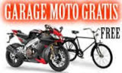 Garage for motorbikes and bicycles free